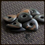 Moon Tones - Ebony - 4 Guitar Picks | Timber Tones